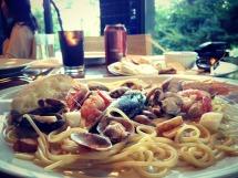 Paradiso Perduto's seafood pasta