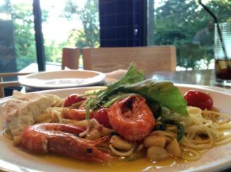 Paradiso Perduto's prawn pasta