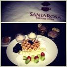 Santarosa's very berry waffles and gelato