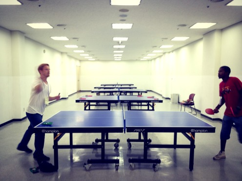 Ahhh! We found the ping pong room!