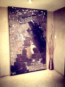 Wall art inside the hotel. — at Tria Hotel.