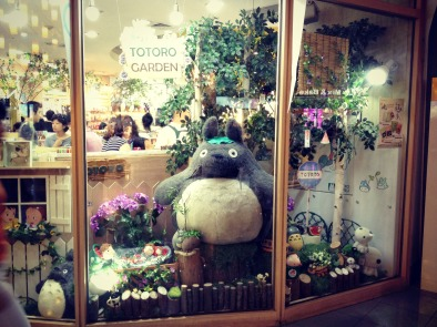 Totoro display inside one of the shops. — at COEX.