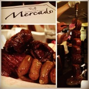 And the moment we've been waiting for! Brazilian steak house time! — at Mercado - Brazilian Streak House