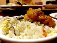 Fried rice and garlic chicken from Bin Haewon.