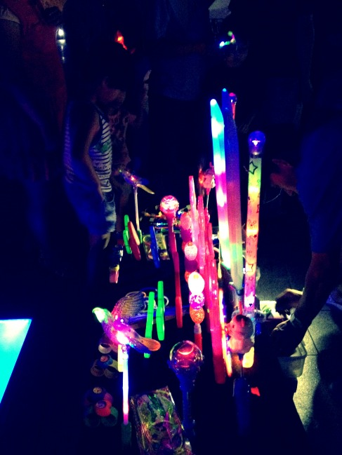 Neon-lighted toys for the kids (and me) at Eunpa Park.
