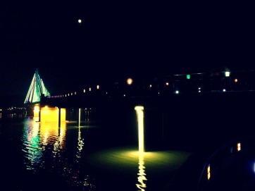 Lighted bridge of Eunpa Park.
