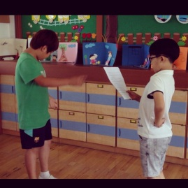 """English Summer Camp - practicing """"The Little Gingerbread Boy"""""""