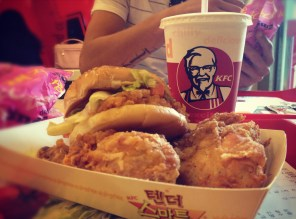 Zinger burger, original and crispy - all for meee!