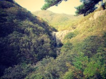 We can see the Chikso Waterfall in the distance!