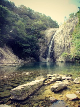 Finally, the Chikso Waterfall!