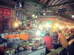 We somehow detoured into the inside/outdoor cafeteria of Korea.