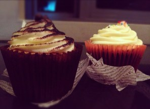 Tiramisu and red velvet cupcakes to over-stuff our bellies before bed time.