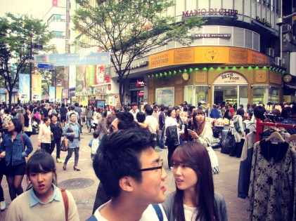 Myeong-dong shopping is currrazy!