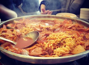 Kimchi jjigae lunch provided by The Office of Education