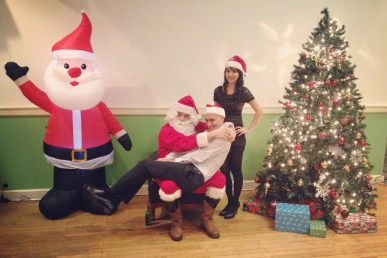 Haha. Clint wanted to embarrass Santa, but Santa ended up embarrassing him instead.