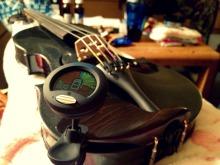 Clint got me a beautiful black violin for Christmas!