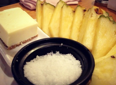 I like to dip pineapple in salt.