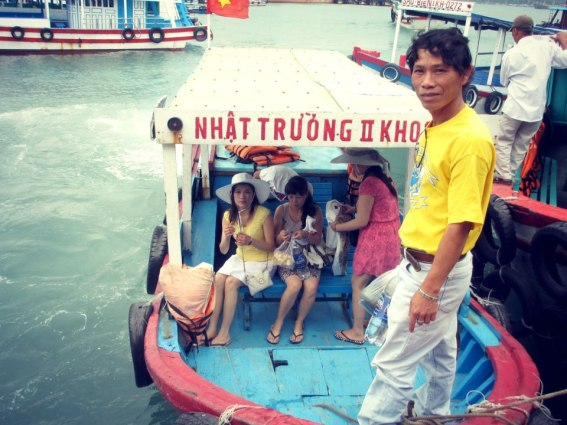 Taking the boat out in Nha Trang