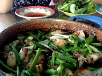 Ca kho to from floating village restaurant in Nha Trang