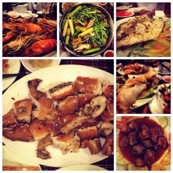 Roast piglet and other delicious foods