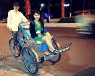 Riding my first cyclo!