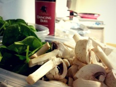 Mushroom and spinach sides