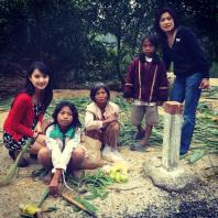 Children in the mountains of Vietnam