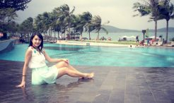 Poolside at resort in Nha Trang