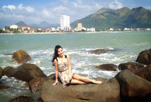 Hanging out on the promontory in Nha Trang