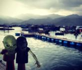 Zombies on vacation. Nha Trang, Vietnam