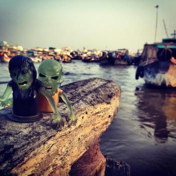 Zombies on the Mekong. Can Tho, Vietnam