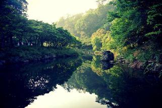 Cheonjiyeon Waterfall - river