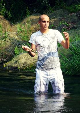 Fishing at Tama River