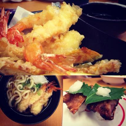 Tempura and tempura udon