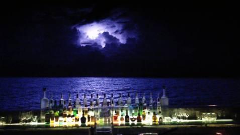 Lightning miles away.