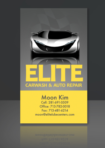 Elite Carwash & Auto Business Card