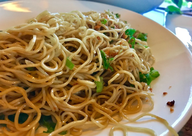 Garlic Noodles – Fresh & Fried Garlic, Dashi, Green Onion