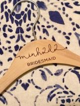 Custom hangers for the bridal team